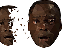 "Jordan Peele's ""Get Out"" polygon vector design"