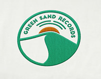 Green Sand Records logo design
