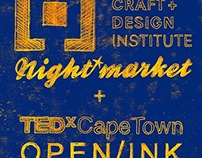 Monotype Poster for TEDx Cape Town + CCDI