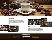 """Web page for cafe - """"Caffeteriata"""""""
