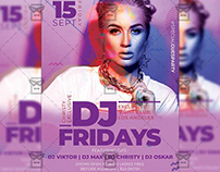 Dj Fridays - Club A5 Template