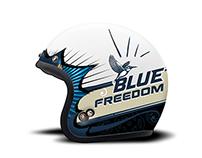 Kingfisher Blue Helmet design