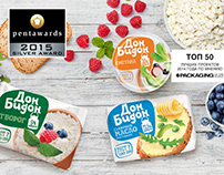 Серия упаковок для молочной фабрики Don Bidon