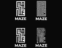 MAZE brewery logo design