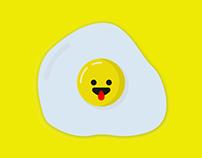 Illustration of Emoji boied egg