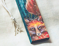 Wooden charms painting