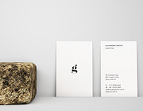 Front and Back Vertical Business Card Mockup