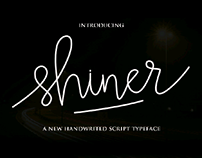 new font handwritted script (shiner)