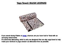 Yoga Towel: BLUSH LEOPARD