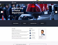 Public institutions WP theme Example for police station