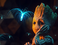 BABY GROOT | lighting&texturing