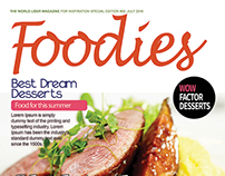 Free Food Magazine Cover PSD Template