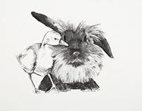 Illustration - Charcoal Fur Friends (2016)