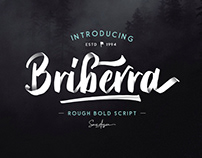 BRIBERRA - FREE ROUGH BOLD SCRIPT FONT