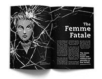 Femme Fatale Film Noir Editorial Illustration & Layout
