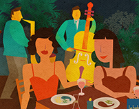 Jazz by the park: Illustrations
