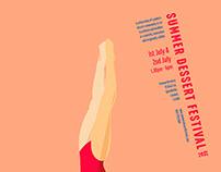 Summer Dessert Festival Poster Design