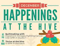 The Hive at the Claremont Colleges - December Posters