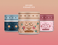 Label design for Ochre cosmetics
