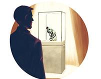 Dieci Piccoli Oggetti - website illustration