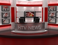 HTV NEWS Set Design