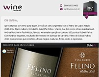 E-mail marketing: Felino de Cobos Malbec 2010