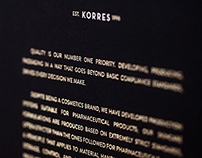 Korres Presskit - Cream Range holder