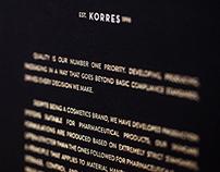 Korres Presskit - Cream Range holder