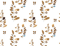 Watercolor patterns / Twigs