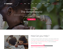 Impart – Nonprofit Charity Template is fully hand craft