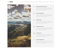 What We Do Section - Spark WordPress Theme