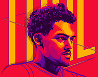 Trae Young - Illustration