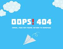 404 Error Page- PSD