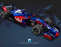 2018 Toro Rosso Honda Concept Liveries.