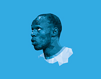 Usain Bolt - Low Poly Draw