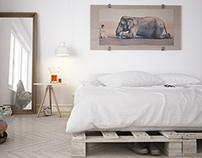 Easy bedroom...