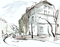 Old town sketches from nature