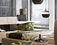 Bedroom for the creative family. Krakow
