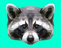 Raccoon Polygon Art (Guardians of The Galaxy inspired)