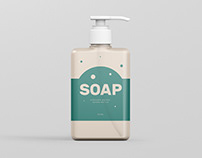 Soap Dispenser Mockup Rectangle