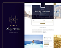 The Supreme - Hotel Template Pack | Website & Corporate
