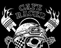 Cafe Racer T-Shirt Design.