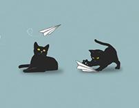 Paperplane Cats