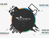 Design of the corporate presentation for Xtremis