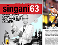 LAYOUT: Singani 63 newsletter