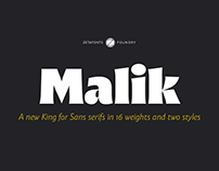 Malik - A new King for Sans serifs