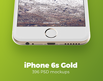 iPhone 6s Gold mockups + FREEBIE