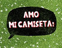 "Diseño de marca ""AMO MI CAMISETA"""
