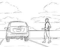 Car HUD Storyboards