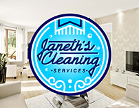 Janeths Cleaning logo - lettering